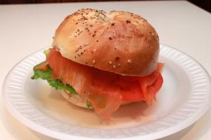 Lox Spread Sandwich on Bagel - delivery menu