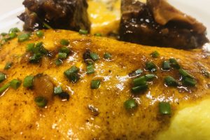 Jamaican Yeah Mon Egg Omelette with Oxtail Gravy - delivery menu