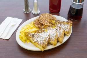French Toast and Eggs and Meat - delivery menu