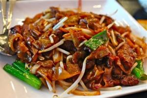 80. Roast Pork Chow Fun - delivery menu
