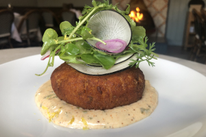 Jumbo Lump Blue Crab Cake Plate  - delivery menu