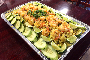 Pineapple Fried Rice with Chicken and Shrimp Tray - delivery menu