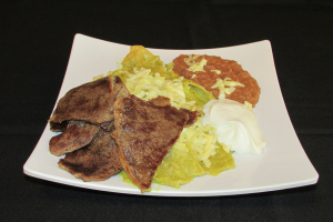 Chilaquiles con Bistek - delivery menu