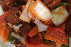 Sweet and Sour Spareribs with Pineapple - delivery menu