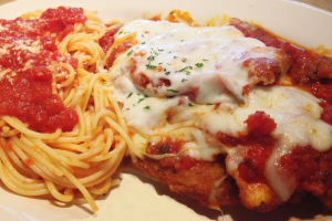 Pasta with Chicken Parmigiana - delivery menu