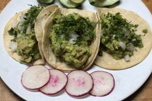 3 Guacamole Tacos - delivery menu