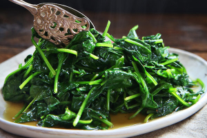 107. Quart of Sauteed Spinach - delivery menu