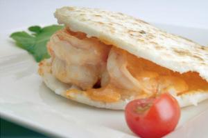 Shrimp Arepa - delivery menu