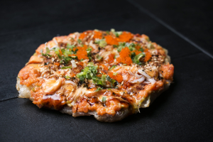 Spicy Salmon or Tuna Pizza - delivery menu