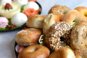 Bagel with Scallion Cream Cheese - delivery menu