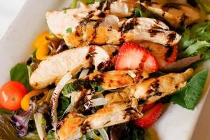 Grilled Thyme Chicken Paillard Salad - delivery menu