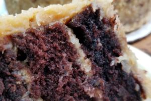 German Chocolate Cake Slice - delivery menu