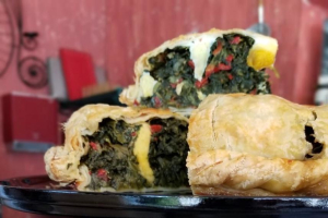 Spinach Pie and Side of Nodini - delivery menu