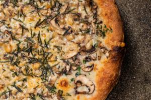 Shaved Mushroom Pizza - delivery menu