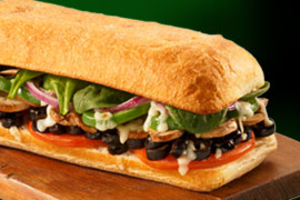 Vegetarian Sub - delivery menu