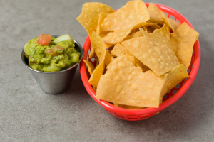 Guacamole Dip with Chips - delivery menu