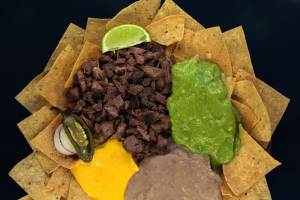 2. Nachos with Beans and Cheese - delivery menu