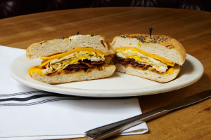 2 Eggs, Bacon and American Cheese on a Roll - delivery menu