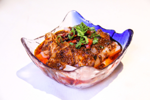 8. Mung Beans Jelly with Spicy Chili Sauce - delivery menu