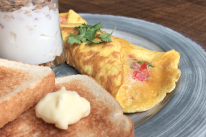 3-Egg Omelette & Toast - delivery menu