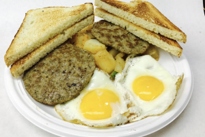2 Eggs and Sausage Platter  - delivery menu
