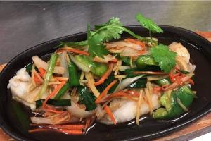 Steamed ginger fish - delivery menu