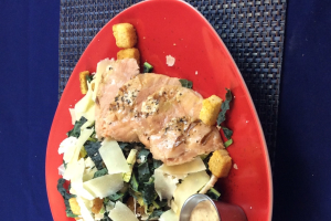 Tuscan Kale Caesar with Grilled Salmon - delivery menu