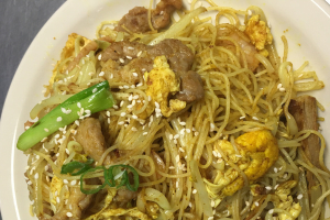 Singapore Style Fried Rice Noodle Curry Flavored - delivery menu