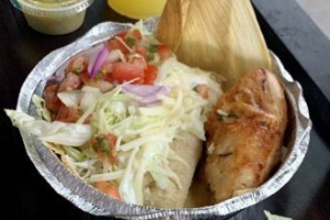 Roasted Chicken and tamal - delivery menu