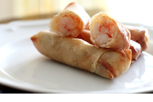2 Crispy Shrimp Spring Rolls - delivery menu