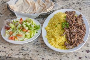 Beef Shawerma Plate - delivery menu