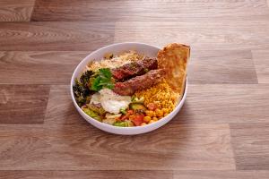 1. Ground Beef Kabob Platter - delivery menu