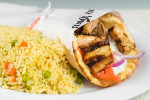 L2 - Chicken or Pork Souvlaki Pita Lunch - delivery menu
