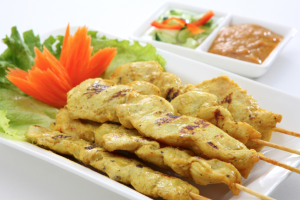 4 Piece Chicken Satay - delivery menu