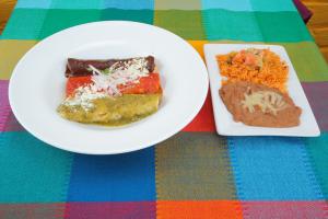 Cheese Tri Color Enchiladas - delivery menu