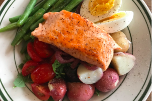 Grilled Salmon Nicoise - delivery menu