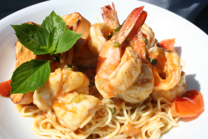 Angel Hair Noodles and Shrimp - delivery menu