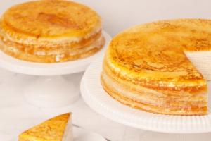 Japanese Mille Crêpe Cake - delivery menu