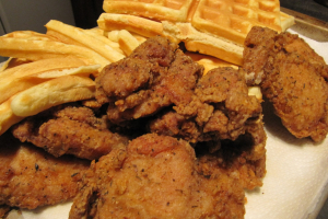 Chicken wings +  waffles - delivery menu