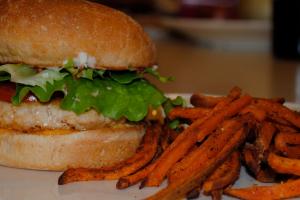 4. Turkey Burger Deluxe - delivery menu