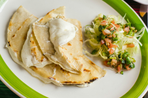 Mushroom Champinones Quesadillas - delivery menu