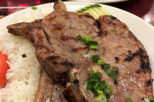 17. Rice Noodles Beef Soup with Grilled Pork Chop - delivery menu