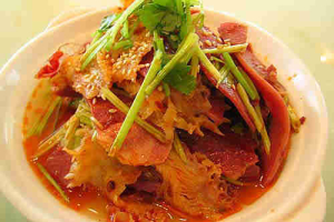 Sliced Beef and Tripe with Tendon in Spicy-Hot Sauce - delivery menu