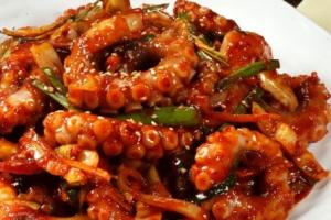 Spicy Octopus Stir Fry - delivery menu