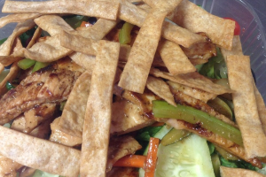 4. Teriyaki Chicken Salad - delivery menu