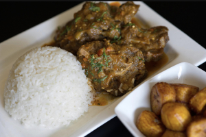 Braised Oxtail with Roasted Eggplant - delivery menu