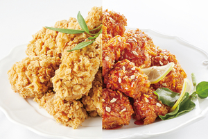 1/2 and 1/2 Combo Special Fried Chicken 양념반프라이드반 - delivery menu