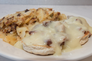 sausage& gravy biscuits - delivery menu