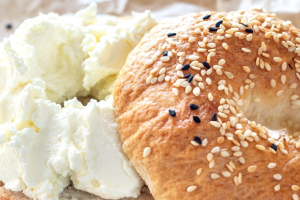 LITE CREAM CHEESE ON A BAGEL - delivery menu
