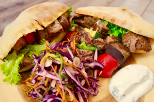 Lamb Kabob Sandwich - delivery menu